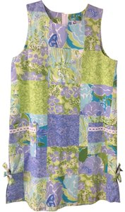 Lilly Pulitzer short dress Pastel green, blue, purple Sleeveless Bows Children Girls on Tradesy