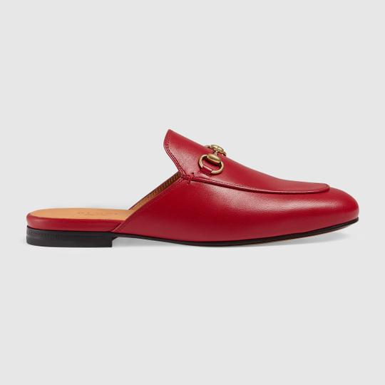 Gucci Red Mules Image 1