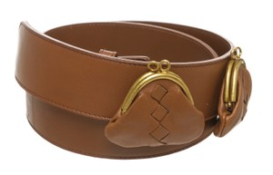 Bottega Veneta Bottega Veneta Brown Leather Coin Purse Belt (Size 75) 7332