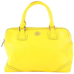 Tory Burch Boston Speedy Alma Travel Satchel in Yellow