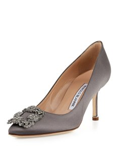 Manolo Blahnik Grey Pumps