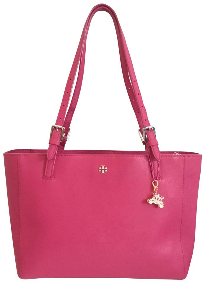 Open Pink Tote Leather Tory Burch Silver OB45qvBw
