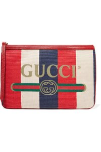 Gucci Canvas Leather Pouch multi Clutch