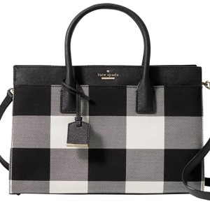 Kate Spade New York Cameron Street Plaid Candace Satchel Crossbody Shale/Multi Shoulder Bag
