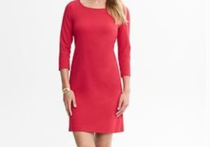 a71626269c3 Banana Republic Comfortable Jackie O Style Mid Sleeve Boat-roundish Neck  Dress