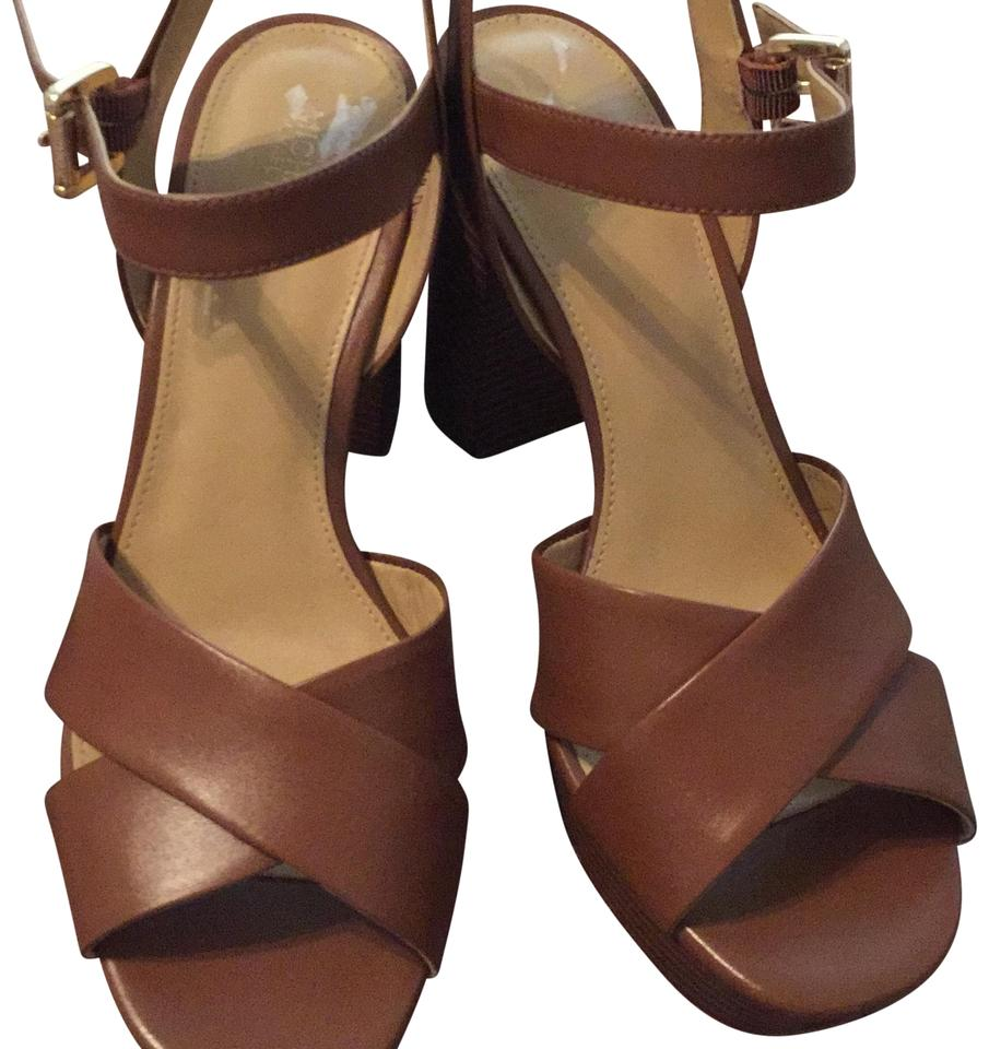c975af3cf225 Michael Kors Tan Sia Platforms Size US 8.5 Regular (M