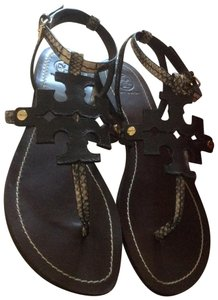 Tory Burch **just reduced 7/26** Black and Tan Sandals