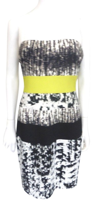 Item - Multi-color W/Neon Yellow W/Neon Band Eu 44 Mid-length Work/Office Dress Size 8 (M)
