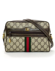 75d960441f6 Added to Shopping Bag. Gucci Monogram Vintage Cross Body Bag. Gucci Vintage    Brown Ophidia Gg Supreme ...