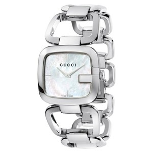 Gucci Stainless Bracelet Mother of Pearl Dial G Series YA125404 Swiss
