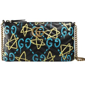 Gucci Wristlet in Black with ghost print