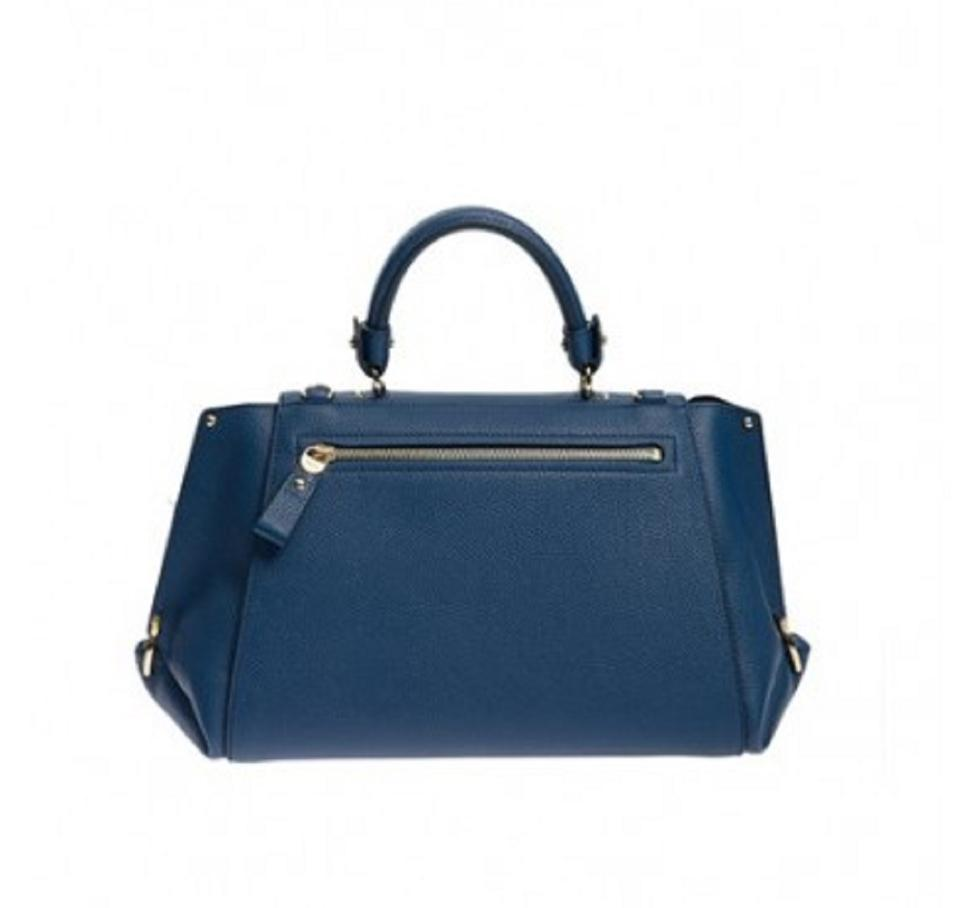 faf797d969 Salvatore Ferragamo Women s Sofia Indie Handbag F606 04 Blue Leather  Shoulder Bag