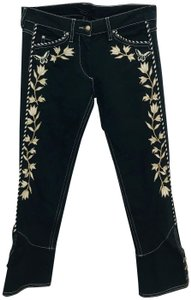 Isabel Marant Matthew Embroidered Capri/Cropped Denim-Dark Rinse