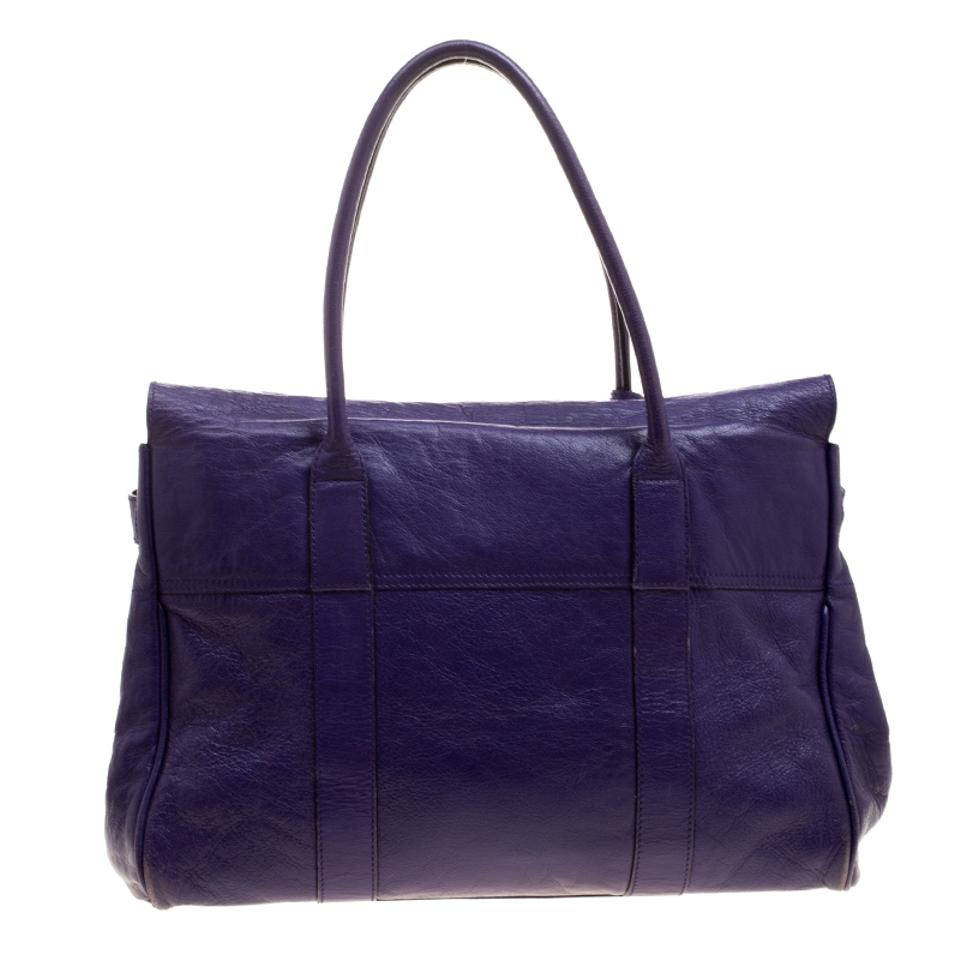 f35e79ad82b Mulberry Bayswater Purple Leather Satchel - Tradesy