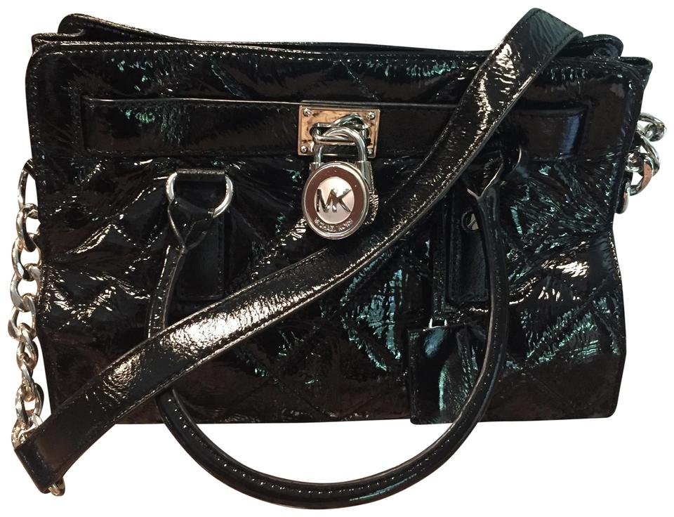 1bfa38f41d1a Black Patent Leather Michael Kors Satchels - Over 70% off at Tradesy