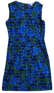 Diane von Furstenberg short dress black, green, blue patterned on Tradesy