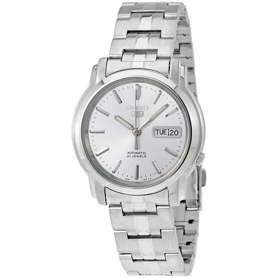 f6a56c0bf Seiko Seiko 5 Silver Dial Stainless Steel Automatic Mens Watch SNKK65 Image  0 ...