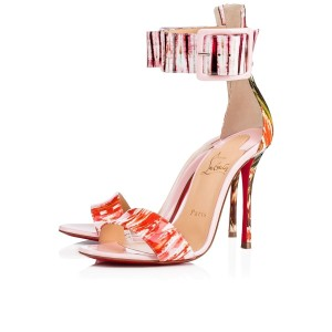 Christian Louboutin Patent Stiletto Ankle Strap Pigalle Runana pink Pumps