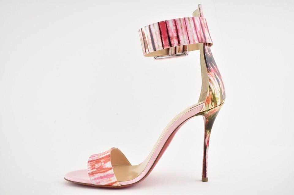 2e7fce1213a2 Christian Louboutin Patent Stiletto Ankle Strap Pigalle Runana pink Pumps  Image 10. 1234567891011