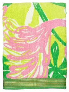 Lilly Pulitzer Lilly Pulitzer for Target Beach Towel - Fan Dance NWT Green Pink Flamingo