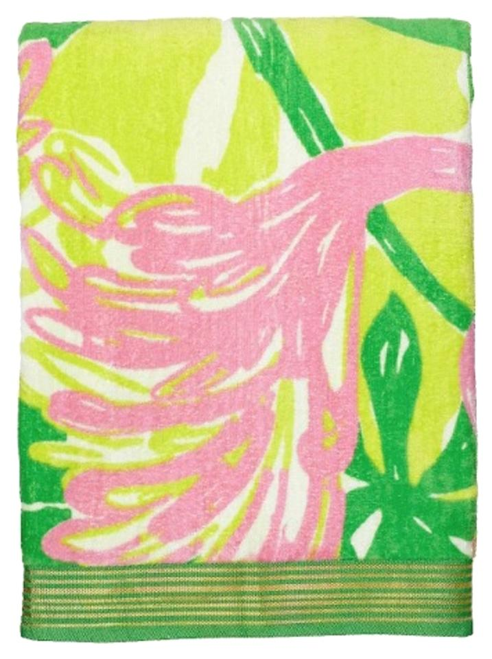 Lilly Pulitzer Fan Dance For Target Beach Towel Green Pink
