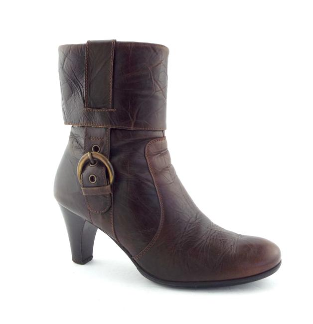Item - Brown Cuffed Buckled Ankle Boots/Booties Size US 8.5 Regular (M, B)
