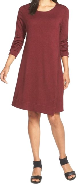 Preload https://img-static.tradesy.com/item/23686385/eileen-fisher-passion-flower-merino-wool-jewel-neck-mid-length-short-casual-dress-size-12-l-0-1-650-650.jpg
