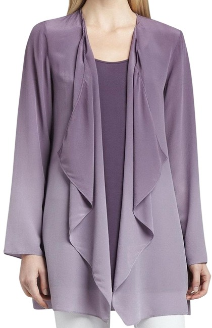 Preload https://img-static.tradesy.com/item/23686661/eileen-fisher-purple-wildberry-ombre-silk-drape-front-jacket-cardigan-size-petite-4-s-0-1-650-650.jpg