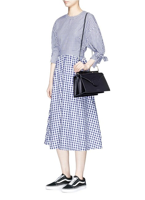 Item - Blue White Gingham Checkered Plaid Mid-length Cocktail Dress Size 0 (XS)