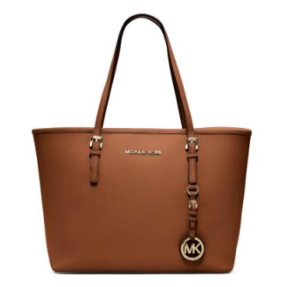 Michael Kors Jet Set Small Camel Leather Tote 60% off retail