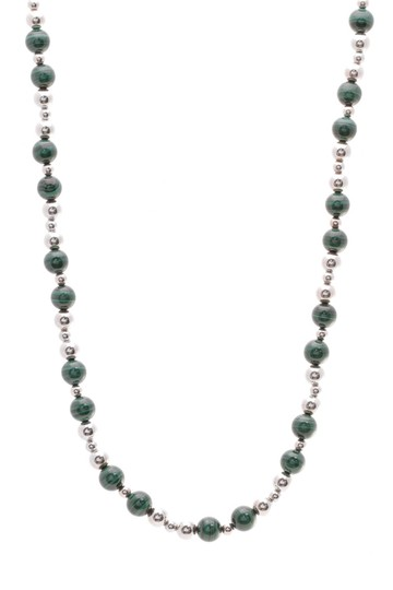 Preload https://img-static.tradesy.com/item/23686756/tiffany-and-co-silver-green-malachite-bead-necklace-0-0-540-540.jpg