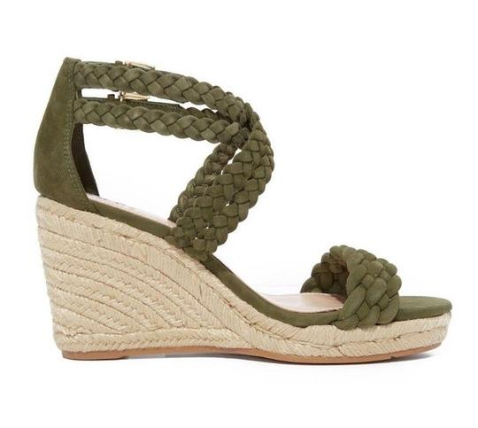 Tory Burch Wedges Heels Olive khaki green Sandals Image 1