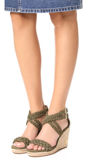 Tory Burch Wedges Heels Olive khaki green Sandals Image 2