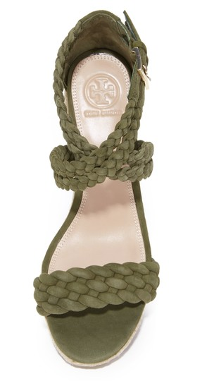 Tory Burch Wedges Heels Olive khaki green Sandals Image 5