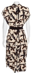brown & cream Maxi Dress by By Malene Birger