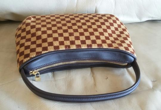 Louis Vuitton RARE Limited Edition Pony Hair Animal Tote Clutch Wristlet Handbag Image 6