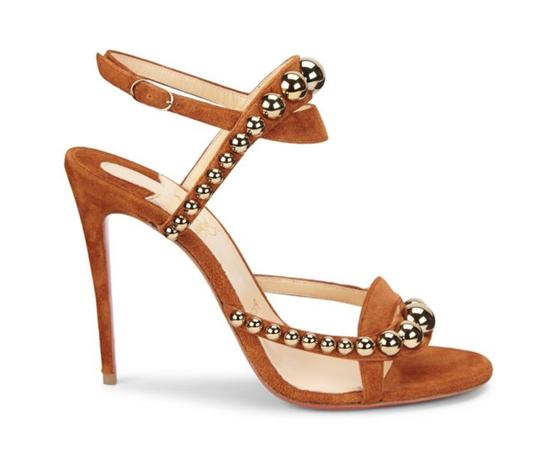 Christian Louboutin Pigalle Stiletto Classic Galeria Studded brown Pumps Image 2