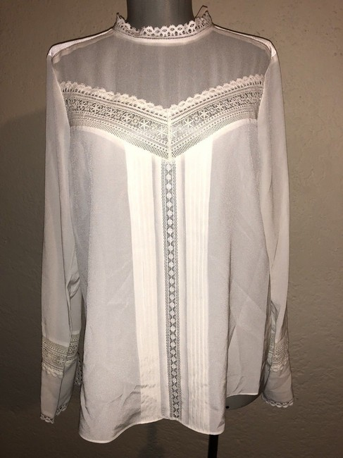 Rebecca Taylor Top Ivory Image 4