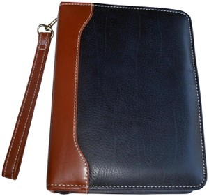Franklin Covey Vintage Leather Compact Planner Agenda Ziparound Binder