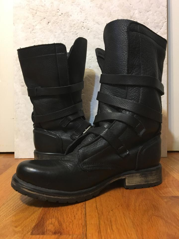 a263f9a0733 Steve Madden Banddit Leather Motocycle Calf-high Black Boots Image 10.  1234567891011