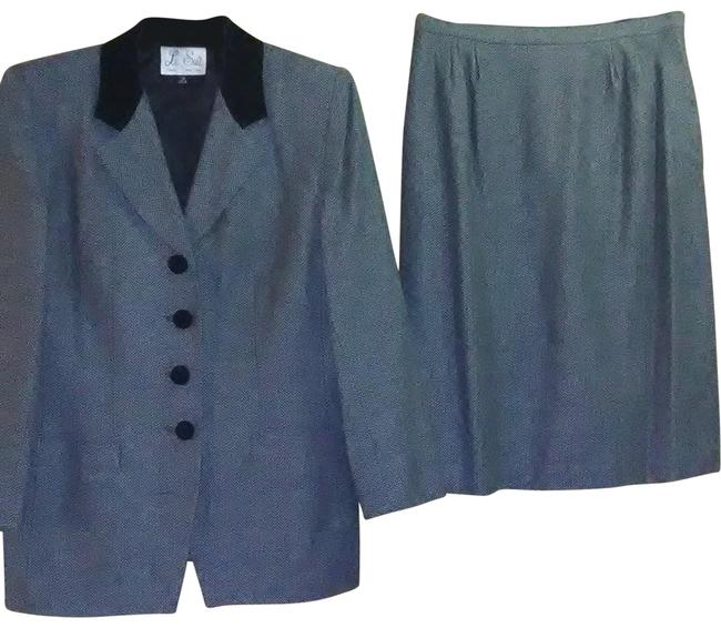 Item - Black and White Tweed Skirt Suit Size 14 (L)