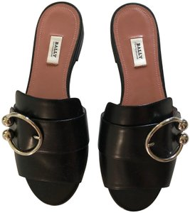 Bally Flat Slip-on Slip On Black Sandals