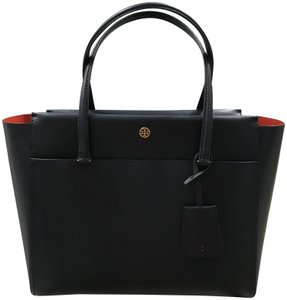Tory Burch Leather Parker Tote in Tory Navy Blue