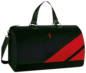 a3eabadaa4a6 Ralph Lauren Polo Duffle Black Red Weekend Travel Bag - Tradesy