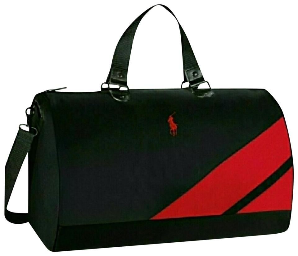 0af123c84a Ralph Lauren Polo Duffle Black Red Weekend Travel Bag - Tradesy
