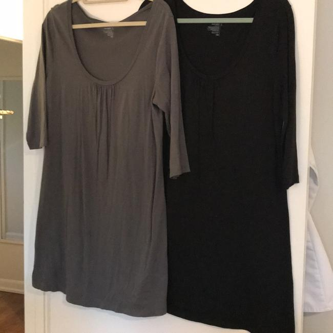 Item - Black and Grey 3/4 Sleeve Knit Pack Short Casual Dress Size 12 (L)