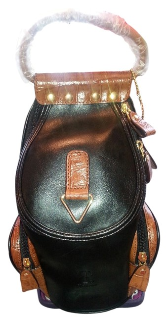 Item - New with Handle & Strap. Black Leather Satchel