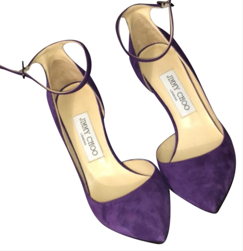 100 Lucy Jimmy Pumps Purple Choo wxxq7CR0