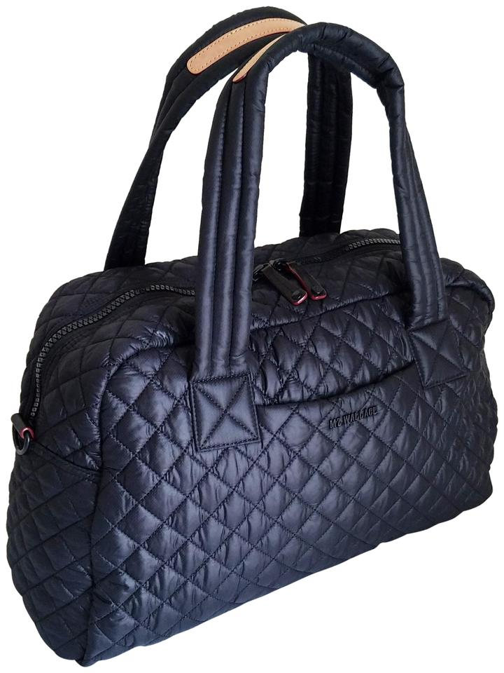557c76155f MZ Wallace Jimmy Duffel Jim Black Quilted Nylon Weekend Travel Bag ...