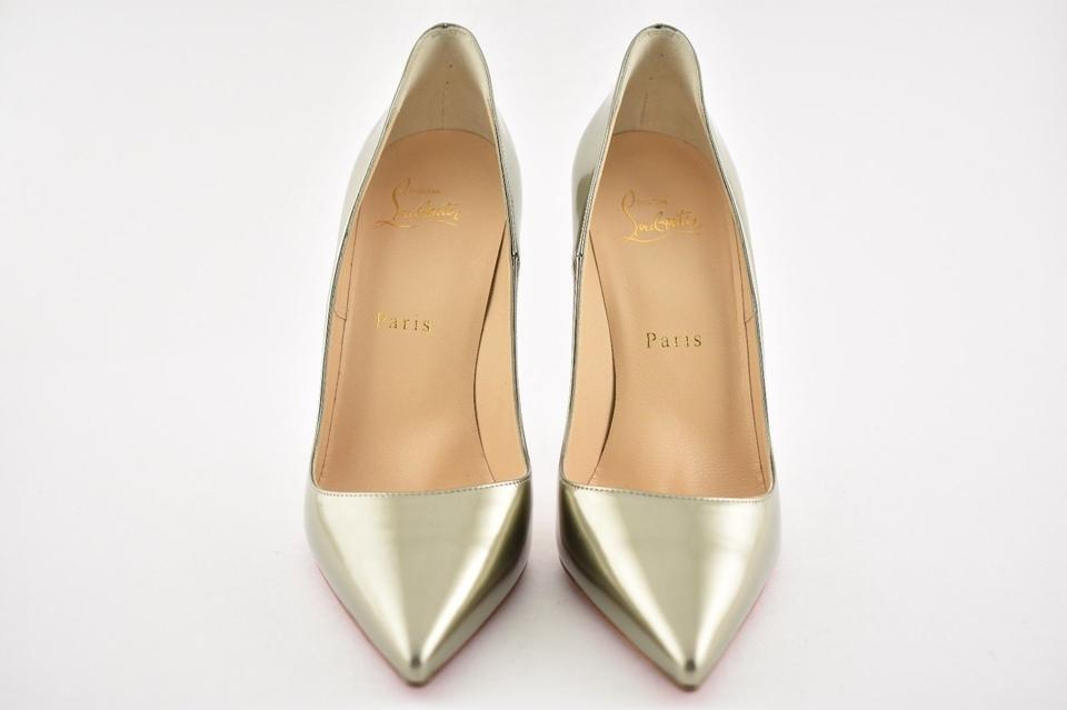 Heel Light Pumps Louboutin Christian 120 Patent Antispecchio So Gold Kate w8zRzBAq